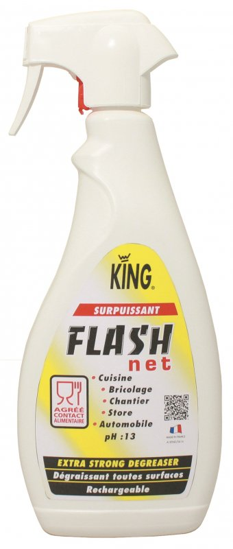Spray puternic degresant si pentru curatare in profunzime, Flash, 750ml - King